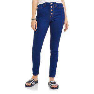 No Boundaries Cobalt Blue High Waist Jeans Size 17